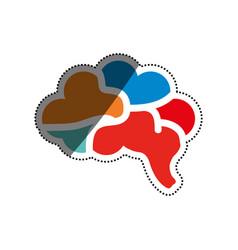 human brain symbol vector image vector image