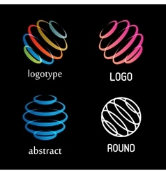 Isolated abstract colorful round shape logo vector image vector image