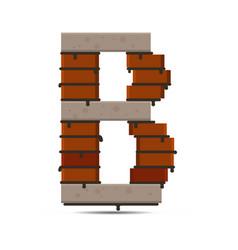 letter brick logo vector image vector image