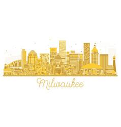 Milwaukee city skyline golden silhouette vector