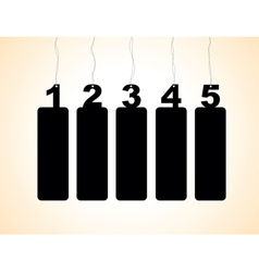 number tag labels vector image vector image