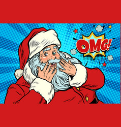 Omg surprise santa claus reaction vector