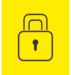 padlock safety security icon design vector image