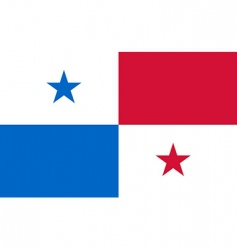 panama flag vector image vector image