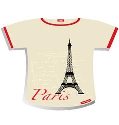 Paris T-shirt vector image vector image