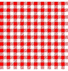 Red and white tablecloth seamless pattern vector