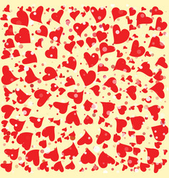 Red hearts round background template halftone vector