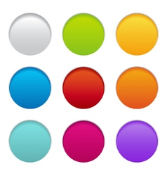 round paper buttons vector image