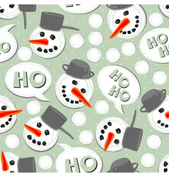 Snowman heads vector image vector image