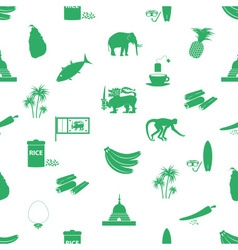 Sri-lanka country symbols seamless green pattern vector