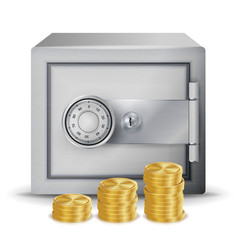 Steel safe security concept metal safe vector