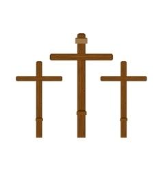 three cross wooden vector image vector image
