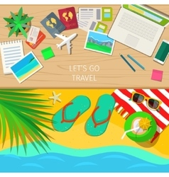 Travel and vacations concept vector