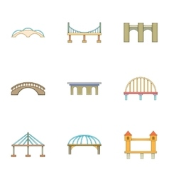 Urban construction icons set cartoon style vector