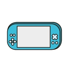 video game portable device vector image