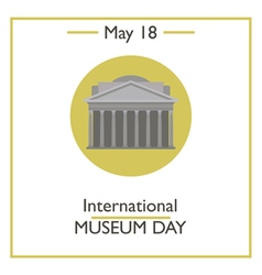 International Museum Day vector image