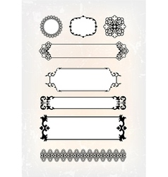 Set of abstract antique pattern vector