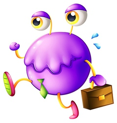 A purple monster with a new job vector image