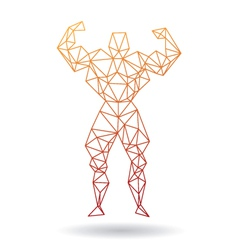 Muscle man abstract vector