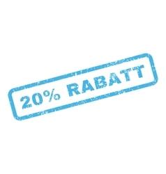 20 percent rabatt text rubber stamp vector