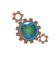 Earth in gears vector