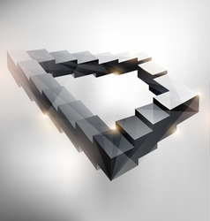 Endless staircase vector image