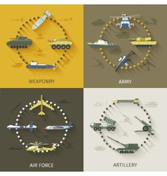 Army flat set vector