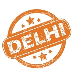 Delhi rubber stamp vector