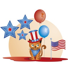 July 4th  cat vector