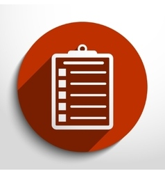 Clipboard web icon vector