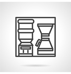 Coffee self-service icon vector