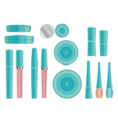 Cosmetics set 3 vector