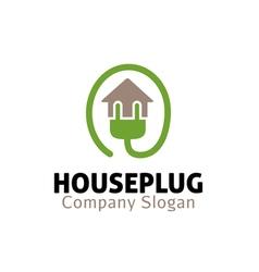 House Plug Design vector image