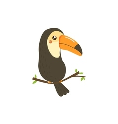 Toucan realistic childish vector