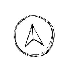 Compass icon instrument design graphic vector