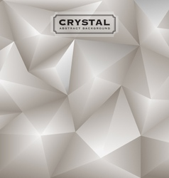 Abstract white diamond polygon background vector image vector image