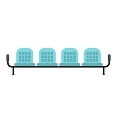 Airport seats icon vector