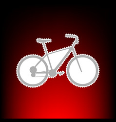 Bicycle bike sign postage stamp or old photo vector