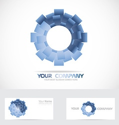 Blue abstract circle corporate logo vector image