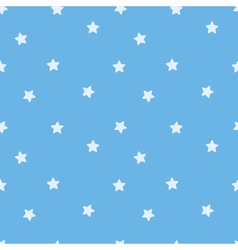 Blue star seamless pattern Stars on sky blue vector image vector image