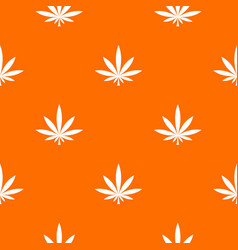 Cannabis leaf pattern seamless vector