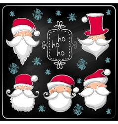 Christmas set with Santa Claus vector image