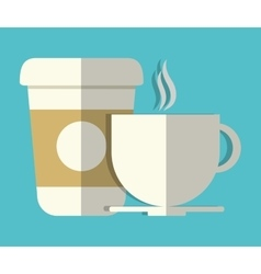 Coffee disposable cup and mug icon image vector