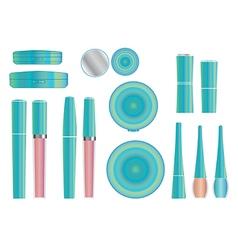 cosmetics set 3 vector image vector image