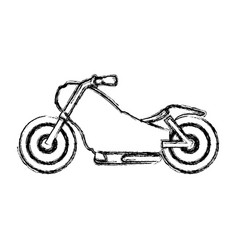custom vintage motorcycle vector image