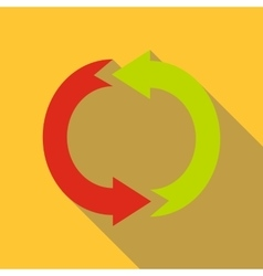 Cycle circle diagram icon flat style vector image