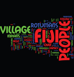 Fiji people text background word cloud concept vector