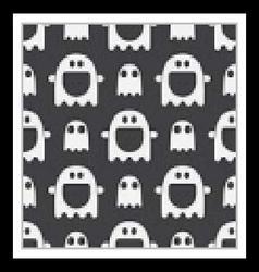 Ghost Halloween Seamless Pattern vector image