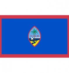 Guam flag vector