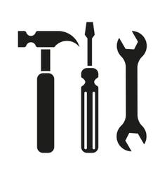 Hammer turnscrew tools icon vector